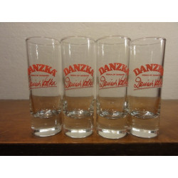 4 VERRES VODKA DANZKA 6 CL