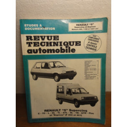 1 REVUE TECHNIQUE RENAULT 5  SUPERCINQ