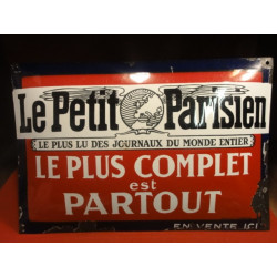 PLAQUE EMAILLEE  LE PETIT PARISIEN