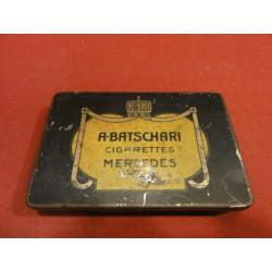 1 BOITE DE CIGARETTES MERCEDES A. BATSCHARI