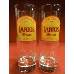 2 VERRES  LARIOS  DRY GIN 22CL