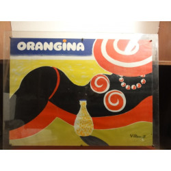 1 PLEXI GLASS AFFICHE ORANGINA WILLEMOT