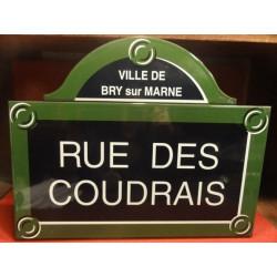 PLAQUE EMAILLEE DE RUE VILLE DE BRAY/MARNE
