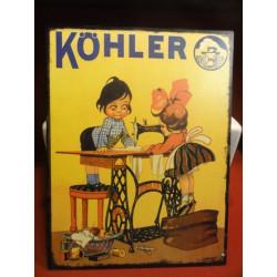 1 TOLE EMAILLEE CHOCOLAT KOHLER