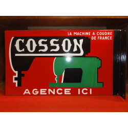 PLAQUE EMAILLEE COSSON MACHINE A COUDRE