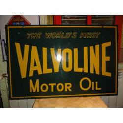 PLAQUE VALVOLINE MOTOR OIL