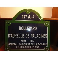 PLAQUE EMAILLEE RUE DE PARIS 17em