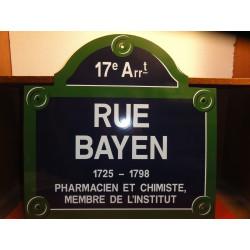 PLAQUE EMAILLEE  DE PARIS 17em