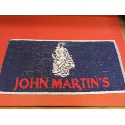 1 TAPIS DE BAR JOHN MARTIN'S