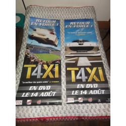 1 LOT DE DEUX AFFICHES  TAXI 4