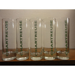 5 VERRES CHARTREUSE TUBO 22CL