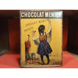 1 TOLE EMAILLEE CHOCOLAT MENIER