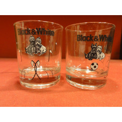 2 VERRES WHISKY  BLACK&WHITE  COLLECTOR