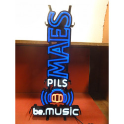 1 NEON MAES PILS BE MUSIC