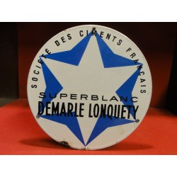 1 PLAQUE EMAILLEE CIMENT DEMARLE LONQUETY