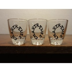 3 MINIS VERRES CHARTREUSE 3CL