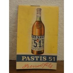 1 CARNET PASTIS 51  PERNOD 45