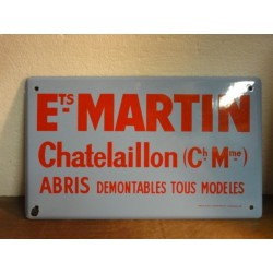 1 PLAQUE EMAILLEE ets  MARTIN A CHTELAILLON