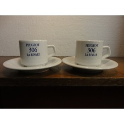 2 TASSES A CAFE PEUGEOT 306