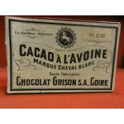 1 BOITE CHOCOLAT GRISON SUISSE