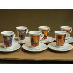 6 TASSES A CAFE FOLLIET  N°214