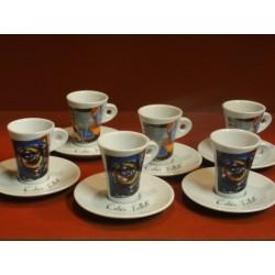6 TASSES A CAFE FOLLIET(  2 MODELES)