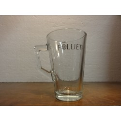 6 TASSES A CAFE FOLLIET EN VERRE 22CL