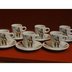6 TASSES A CAFE FOLLIET NOUVEAU MODELE