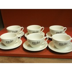 6 TASSES A CHOCOLAT FOLLIET  20CL