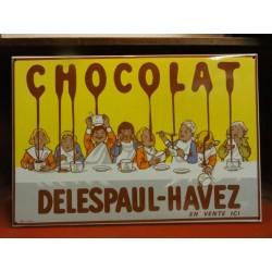 PLAQUE EMAILLEE CHOCOLAT DELESPAUL-HAVEZ