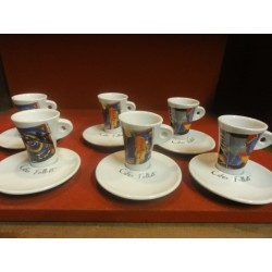 6 TASSES A CAFE FOLLIET DECENTREES