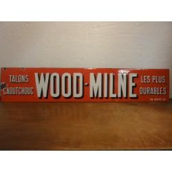 PLAQUE EMAILLEE WOOD-MILNE