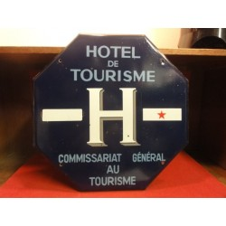 PLAQUE EMAILLEE HOTEL DE TOURISME