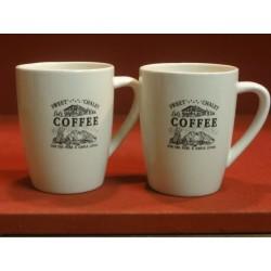 2 TASSES A CAFE GRAND MODELE