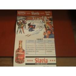 CALENDRIER SLAVIA 1967
