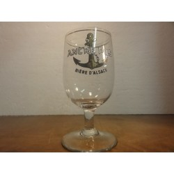 1 VERRE ANCRE PILS 25CL EMAILLE  HT. 14.60CM