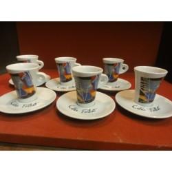6 TASSES A CAFE FOLLIET N° 306