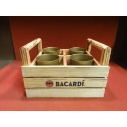 PLATEAU BACARDI+4 VERRES EN METAL