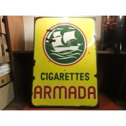 PLAQUE EMAILLEE CIGARETTES ARMADA