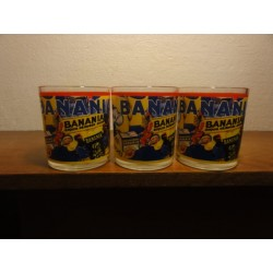 3 VERRES BANANIA  HT. 8.20CM