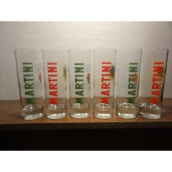 6 VERRES MARTINI COLLECTOR  25CL HT.16.50CM