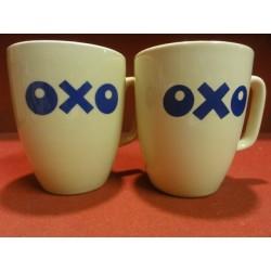 DEUX TASSES OXO  HT. 9.50CM