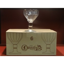 6 VERRES ORVAL POISSON 33CL