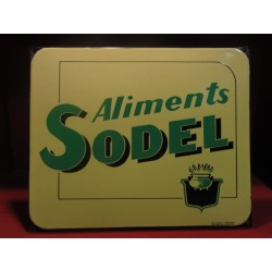 PLAQUE EMAILLEE ALIMENTS SODEL 38CM X31CM
