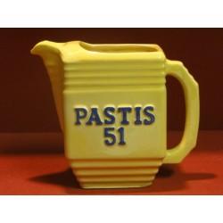 1 PICHET PASTIS 51/PERNOD 45 JAUNE