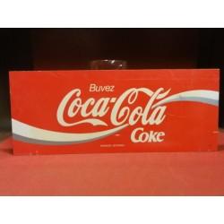 1 PLAQUE COCA -COLA  PLASTIFIEE 46CMX18.50CM