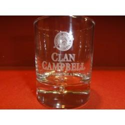 6 VERRES CLAN CAMPBELL  HT. 9CM