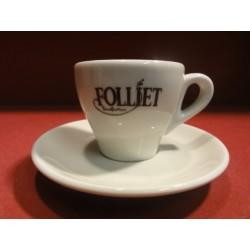 6 TASSES A CAFE FOLLIET (beige)
