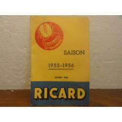1 FEUILLET RICARD  SAISON FOOT 1955/1956
