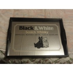 1 PLATEAU BLACK&WHITE  40CM X29CM